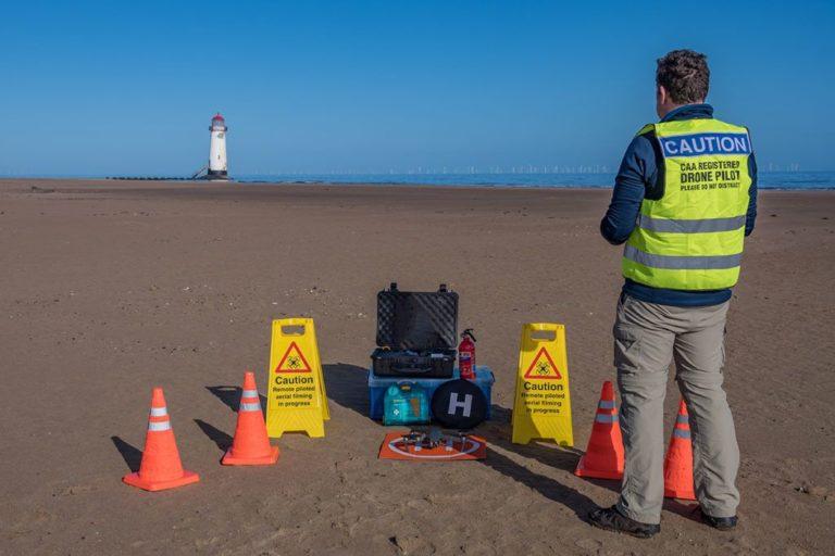 EU UAS Regulation update - man flying drone - caa regulations
