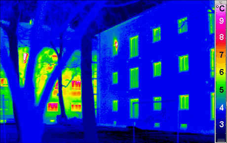 Drone inspection thermal imaging