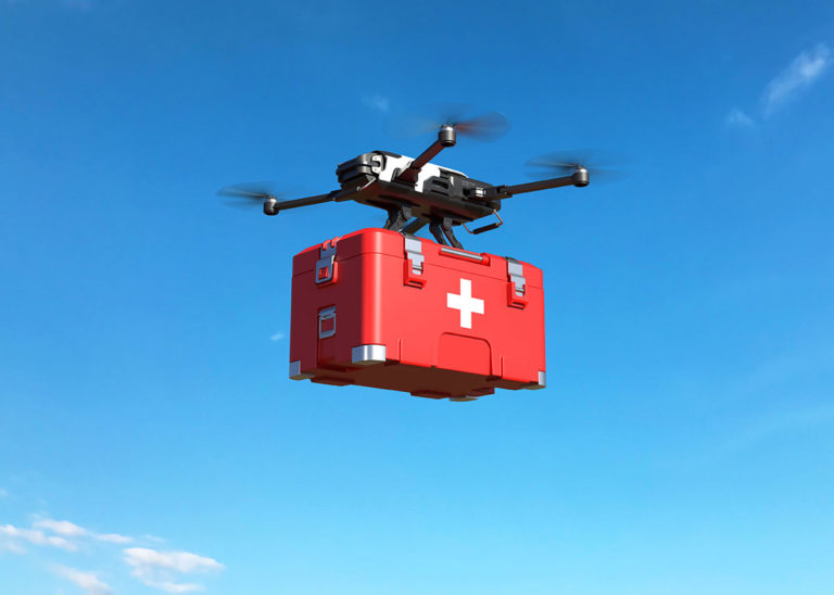 Drones used during pandemic to deliver medical supplies