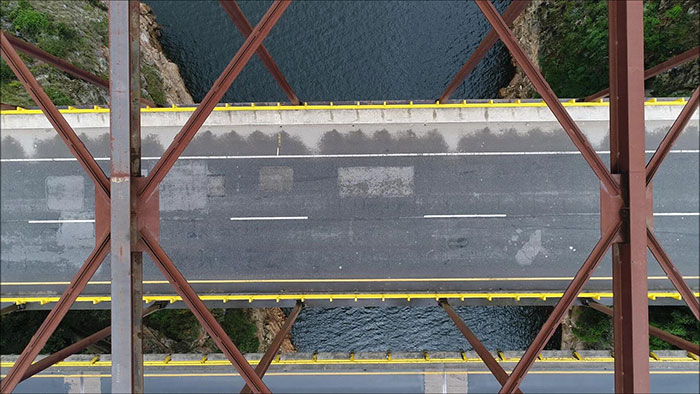 Drone Mapping - aerial view of a bridge