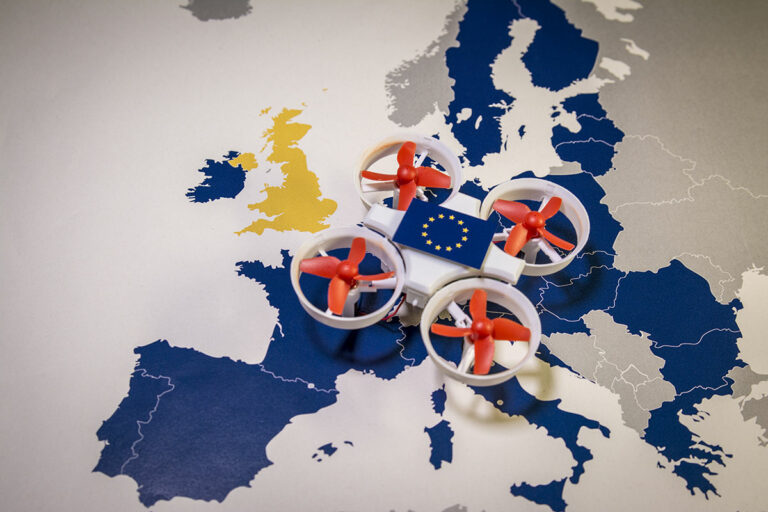 EASA Drone registration - drone flying over UK