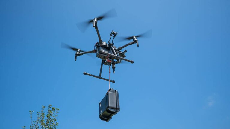 Drone payloads - drone carrying supplies