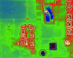 Thermal imaging camera shot