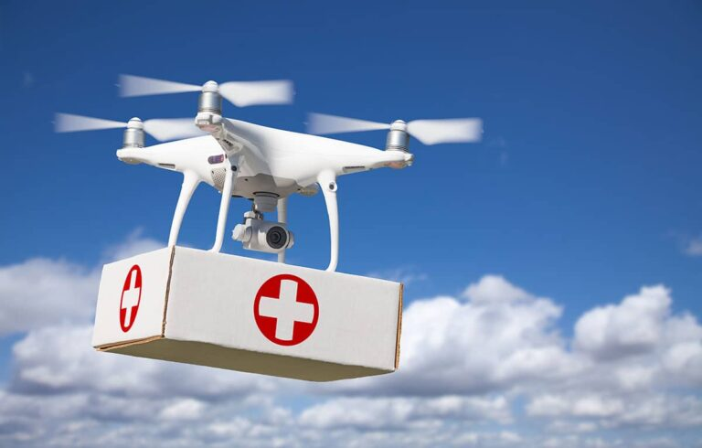 India using drones to delivery vaccines