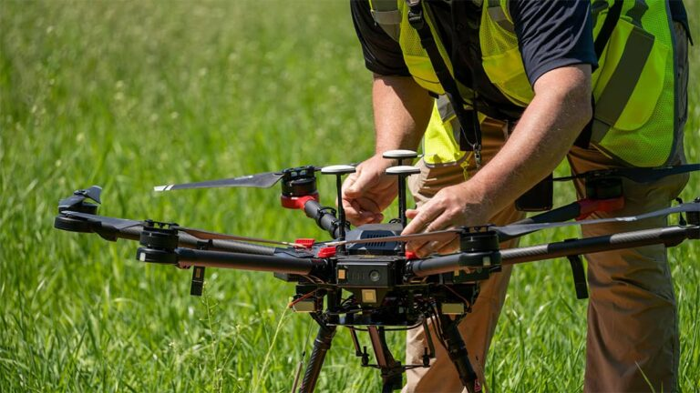 Drone with multrispectral camera