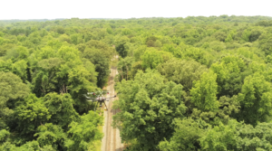 Methane gas leaks - drone inspections - Consortiq - drone flying over pipeline