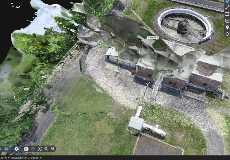 Pix4D image of water towers